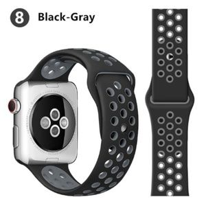 NEW[BAND] BK-Gray Sport Silicone For Apple Watch